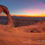 Last Light at Delicate Arch - Arches National Park, Utah