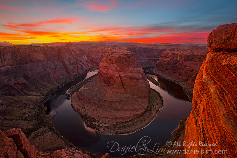 Red Sunset at Horseshoe Bend