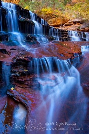 Cascade waterfalls at Zion Subway, Arch Angel Falls